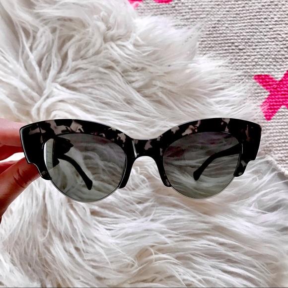 Zac Posen Winona Cat Eye Tortoise Sunglasses